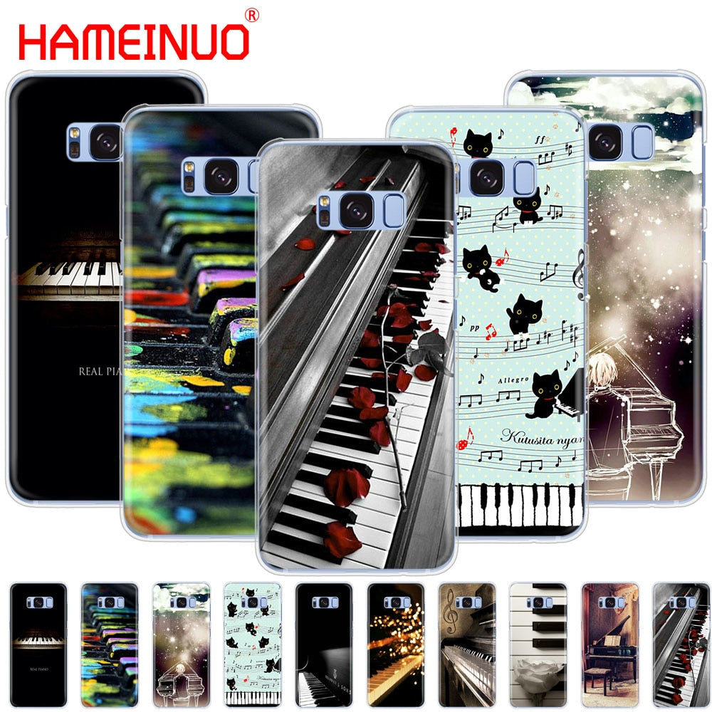 HAMEINUO Music piano keys cell phone case cover for Samsung Galaxy S9 S7 edge PLUS S8 S6 S5 S4 S3 MINI