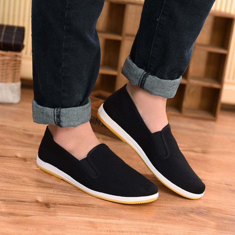 Top Quality Black Cotton Shoes Bruce Lee Vintage Chinese Kung Fu shoes Martial Arts Karate Breathable Shoe Unisex Sneakers