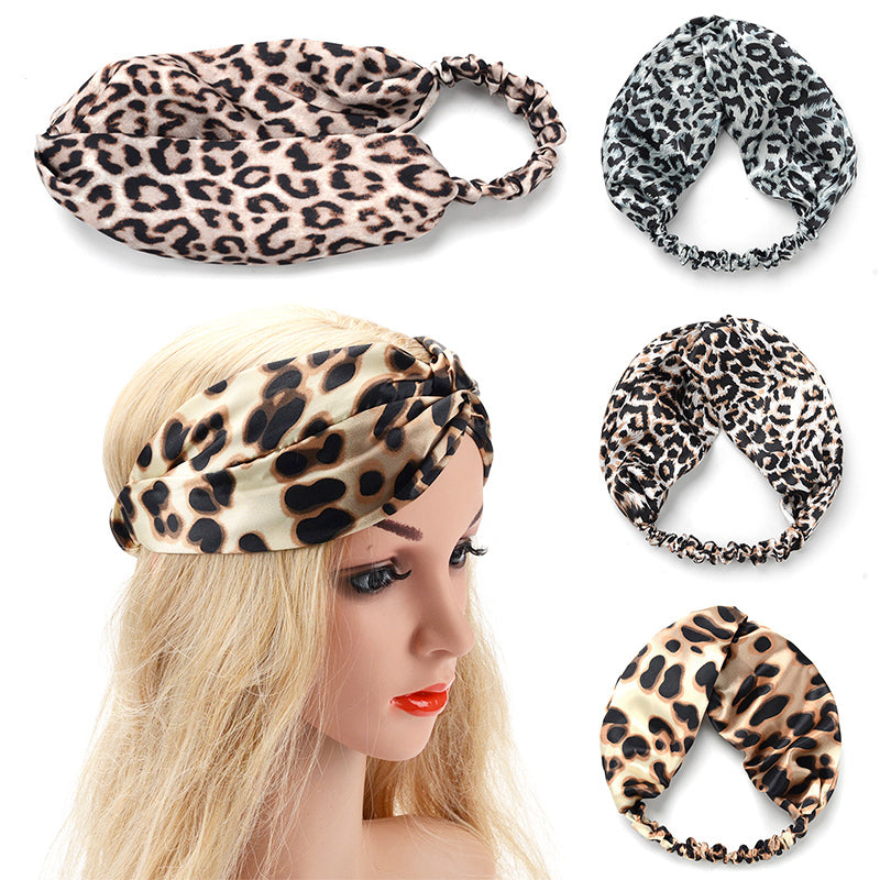 LNRRABC 2018 new Headband Hot Sale Ladies Hair Accessories 1PC Knot Popular Knotted Velvet Leopard Pattern Hairbands for Women
