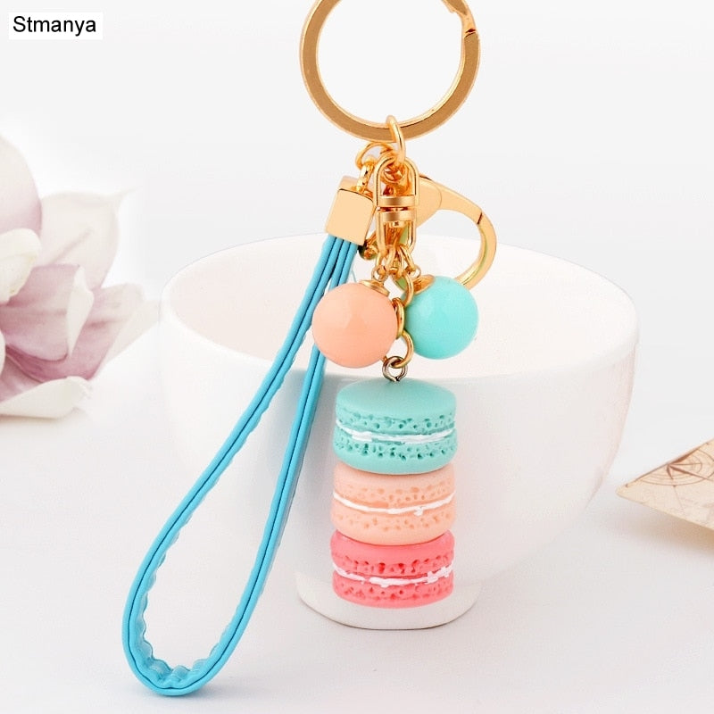 New Key chain France Macaron Keychain keyRing New Year Christmas Mother Friend Lover Gifts  17383