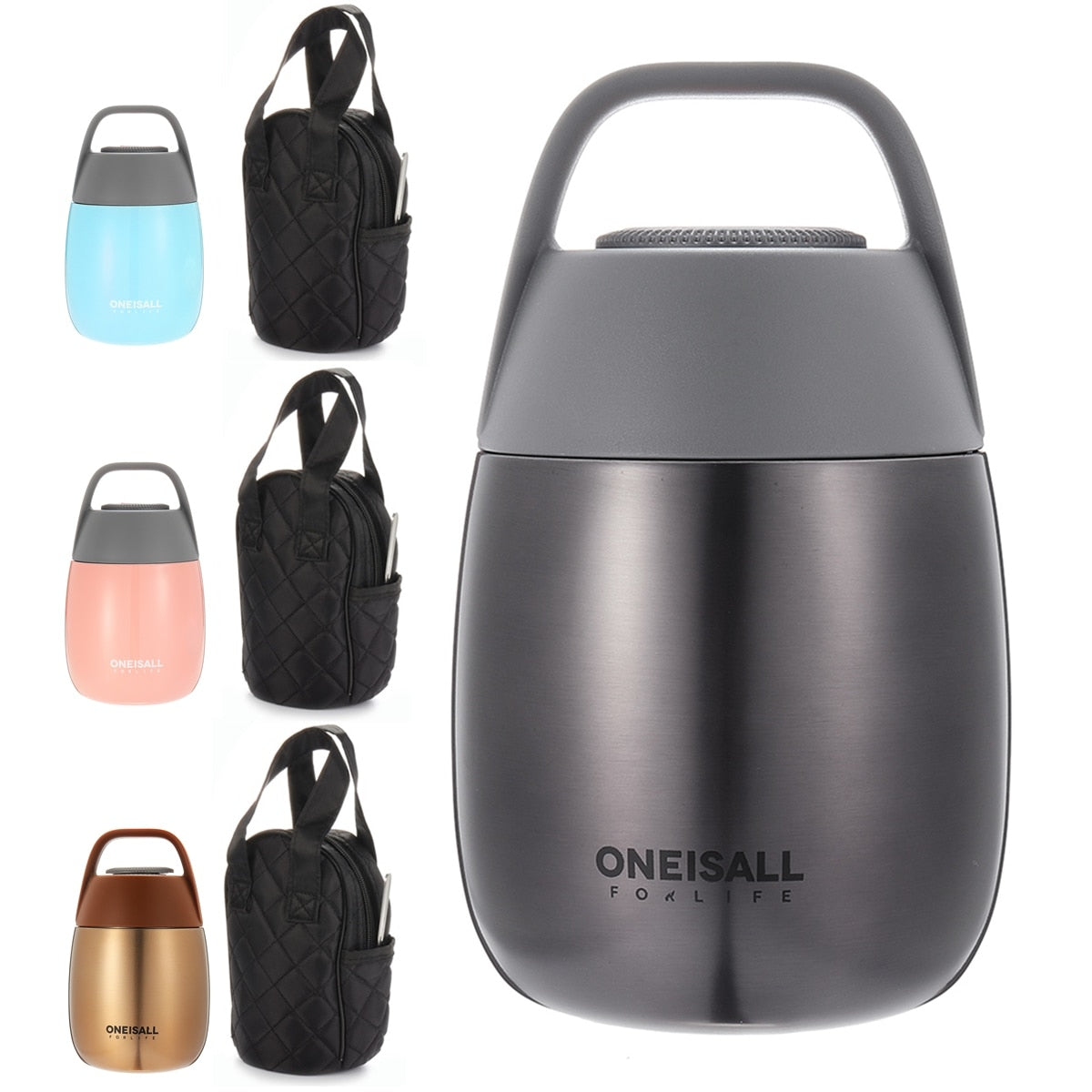 Stainless Steel Thermal Cooker Vacuum Food Flask Lunch Box 450ML Insulated Container Thermal Bowl Cookware Insulated Soup Bento