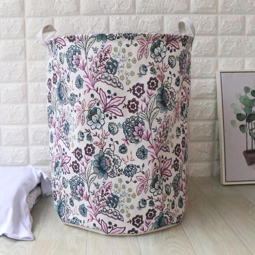 New Flowers Waterproof Laundry Hamper Pentagram clothes Storage Baskets Home decoration storage barrel kids toy organizer basket