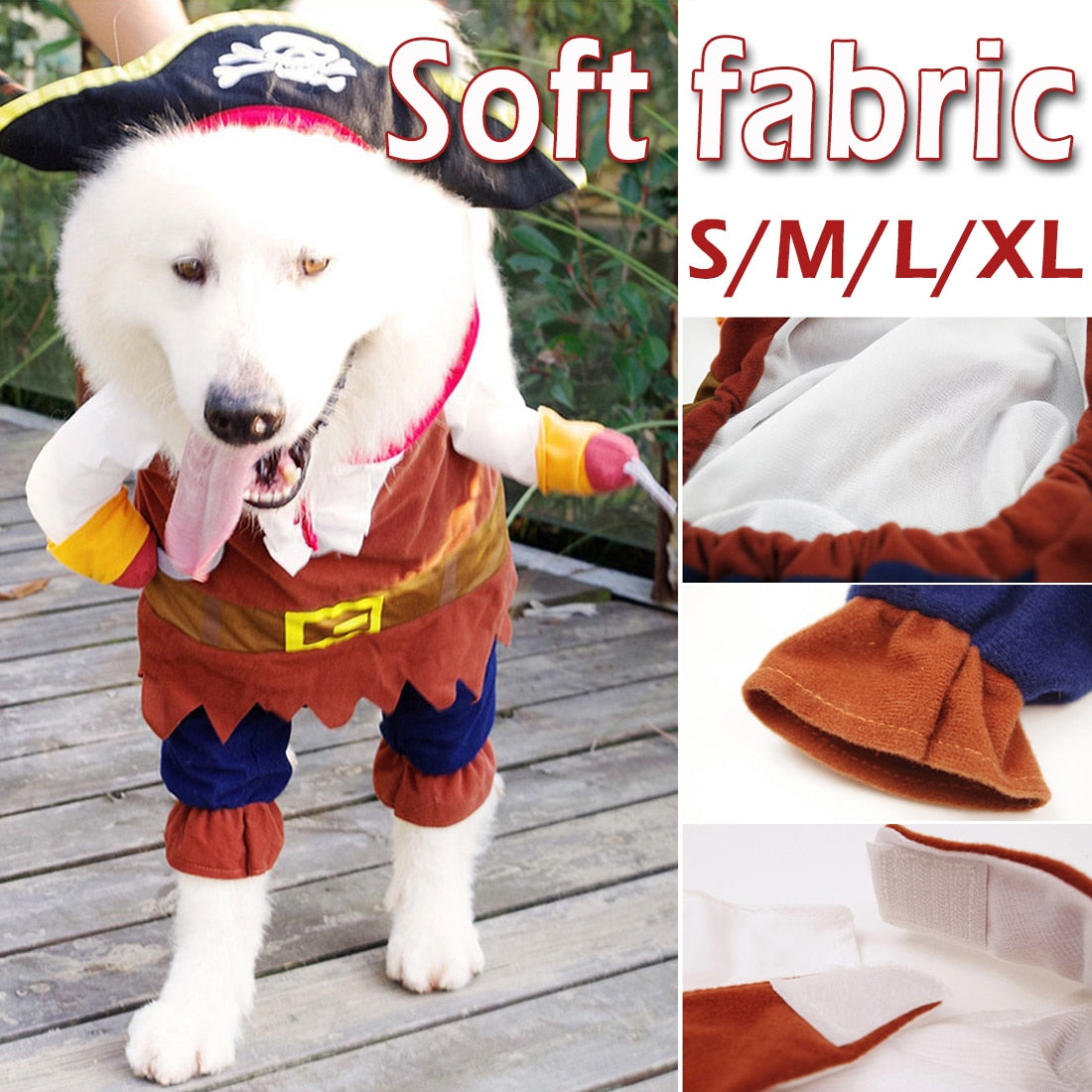 Cute Cosplay Pirate Dogs Cat Halloween Cute Costume Clothing Comfort For Small Medium Dog Pet Clothes