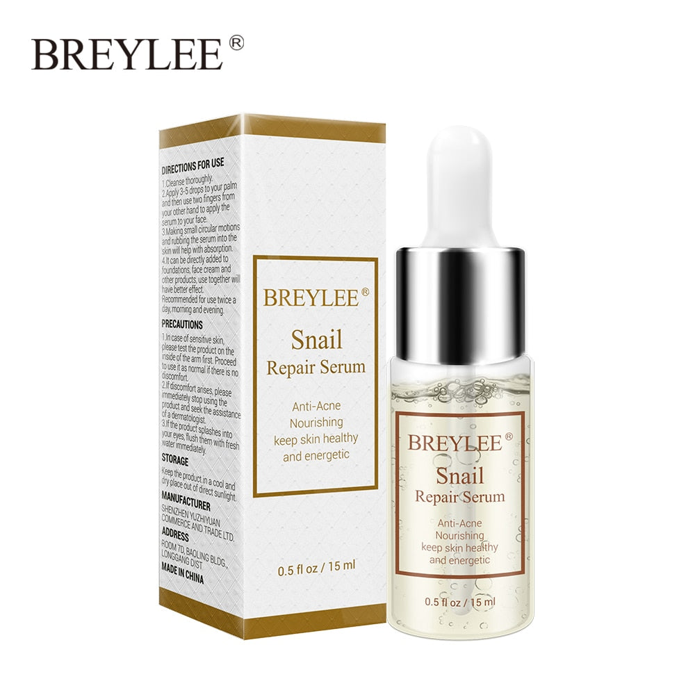 BREYLEE Collagen Lifting Firming Serum Anti-Aging Snail Repair Serum Anti-acne Nourishing Essence Hyaluronic Acid Face Skin Care