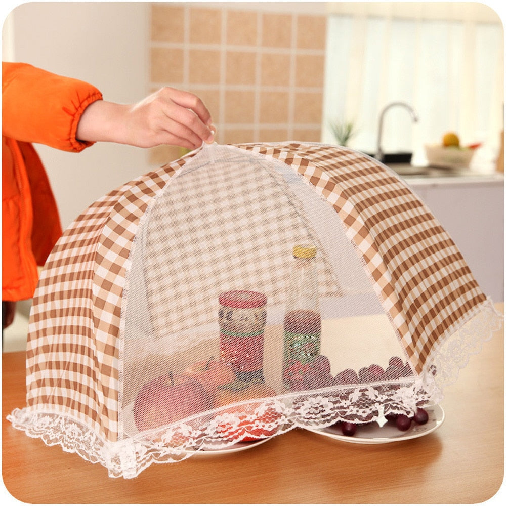 Food Cover Hygiene Grid Umbrella Style Food table Dish Cover Barbecue Picnic Folded Kitchenware Cooking Meal mesh food covers