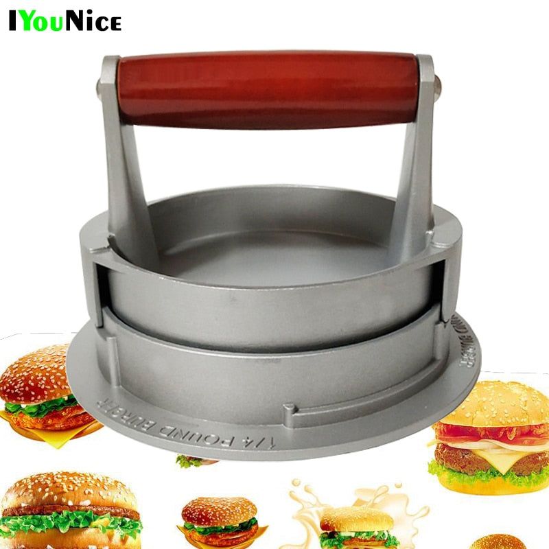 IYouNice Hamburger Meat Press Tool Patty Makers Meat Burger Maker Mold Food-Grade Aluminum Hamburger Press Burger Maker
