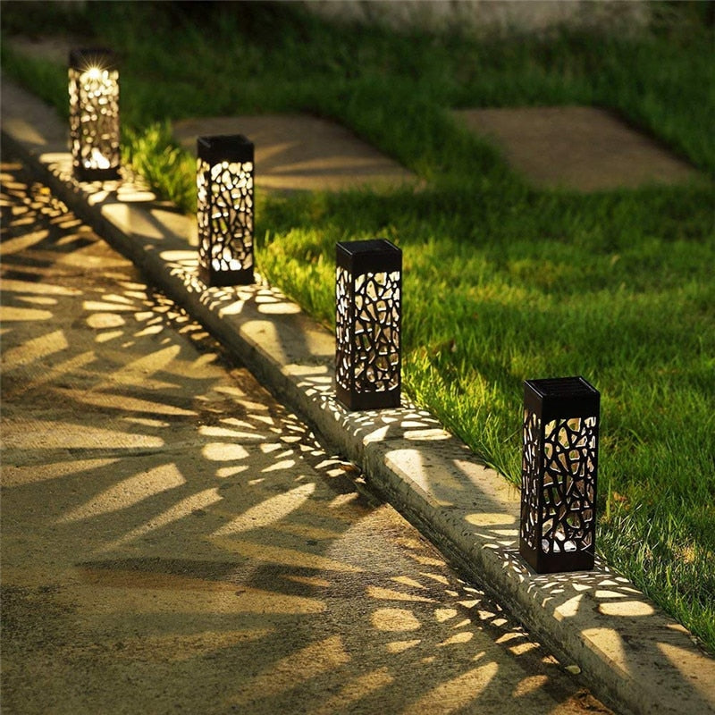 1/4/8PCS Waterproof Solar Lawn Lamp Garden Pathway Lights For Garden Lantern Decoration Outdoor Path Light Night Led Solar Lamps