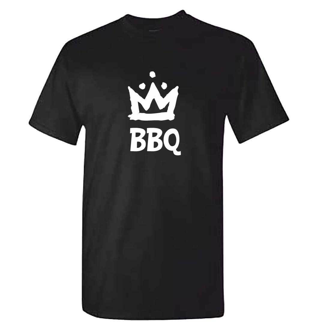 Mens BBQ KING T Shirt - Funny Braai Barbecue TShirt - Tools Accessories Gift