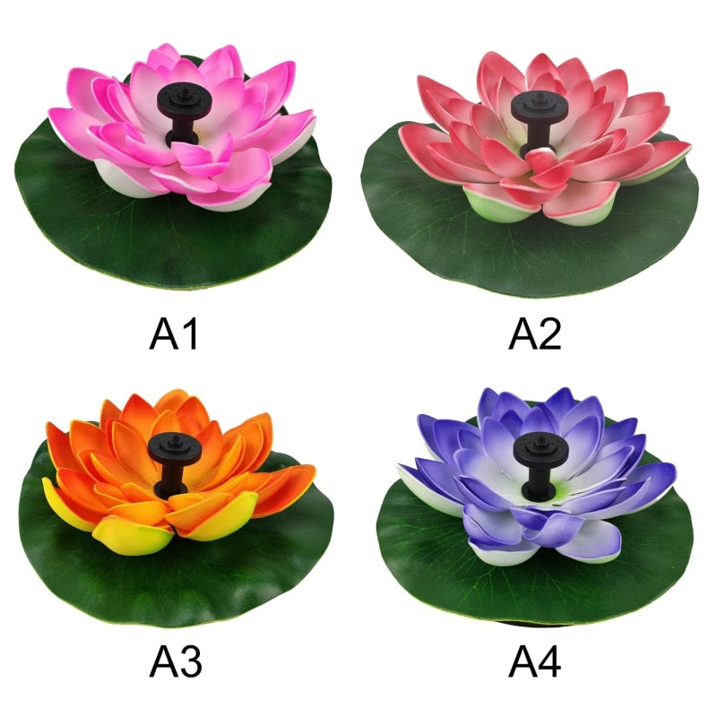 Solar Lotus Fountain Lotus Flower Fountain Fountain Water Pump Courtyard Landscape Colors Garden Fountain Pond Solar