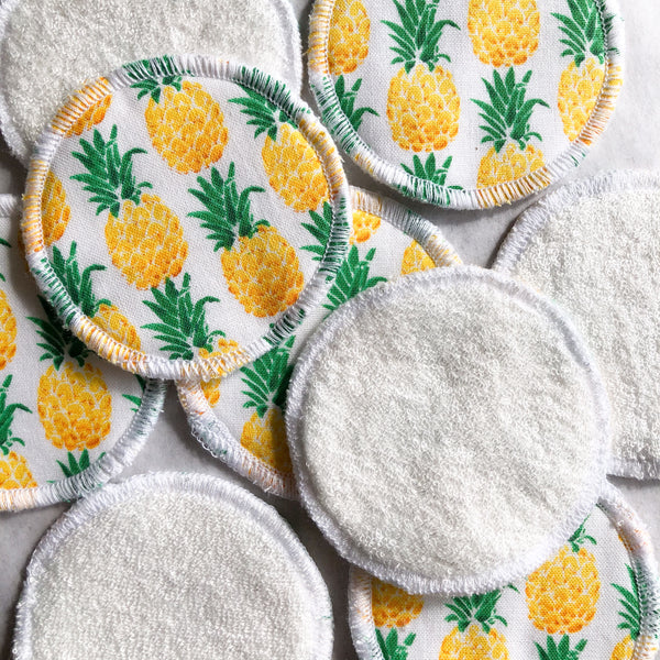 Reusable Facial Rounds - Pineapple Print