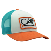 C.A. Richardson Trucker Hat - White & Orange