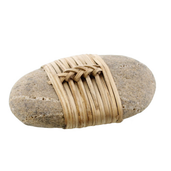 Zen Stone Wrapped in Bamboo