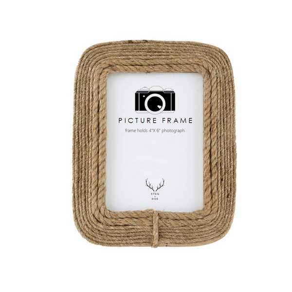 Natural Rope Photo Frame