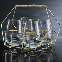 Cellini Stemless Wine Glasses & Caddy Set