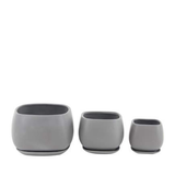 Ceramic Planter - Gray