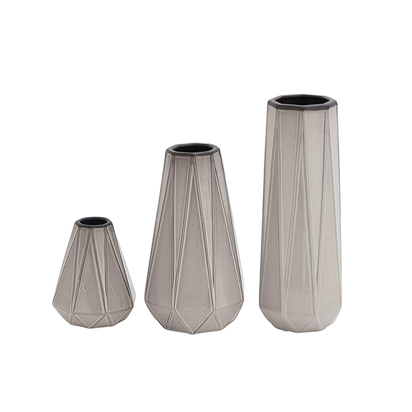 Dark Gray Ceramic Vase