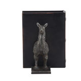Cast Iron Metal Llama Bookends Set