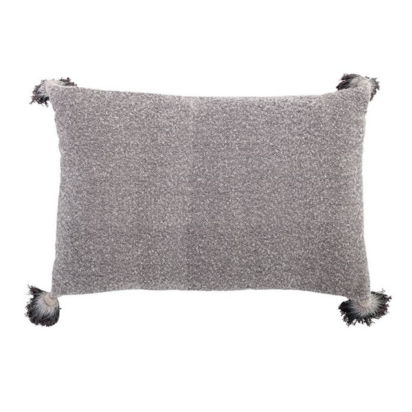 Cotton Rectangle Pillow w/ Tassels