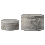 S/2 Round Cement Boxes Set