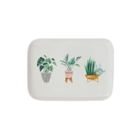 Potted Plants Stoneware Platter