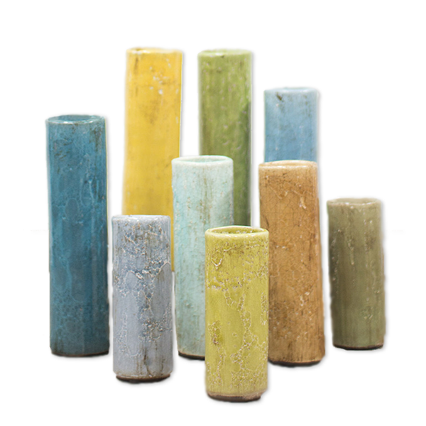 Colorful Ceramic Bud Vases
