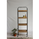 Metal 4 Tier Rack On Casters