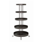"24"" Rnd Metal 5-Tier Shelf"