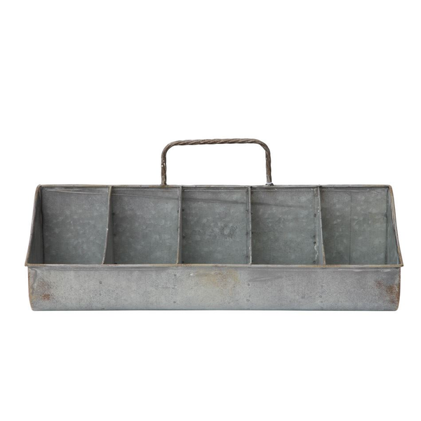 Metal 2-Sided Caddy w/ 10 Compartments