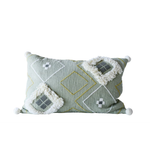 Sage Embroidered Pillow