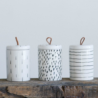 Patterned Stoneware Containers
