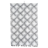 Cotton Mud Cloth Tea Towels w/ Pom Poms