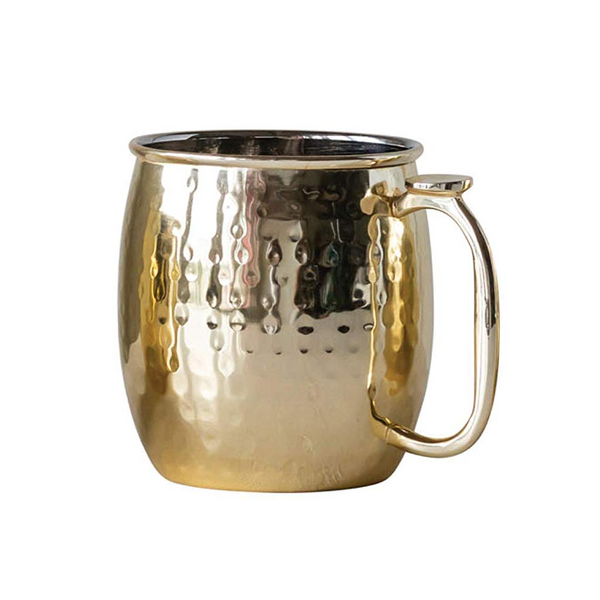 Stainless Steel Hammered Metal Moscow Mule Mug