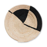 Handwoven Uganda Medium Black Geo Raffia Bowl
