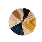 Handwoven Uganda Mustard Wheel Bowl