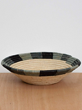 Handwoven Uganda Opal Gray Color Blocked Bowl