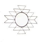 Raw Metal Aztec Mirror