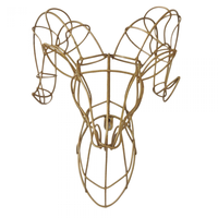 Gold Ram Wire Wall Decor