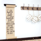 Hanging Note Roll w/ 4 Brass Clips