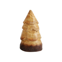 Hand-Carved Wood Pine Tree