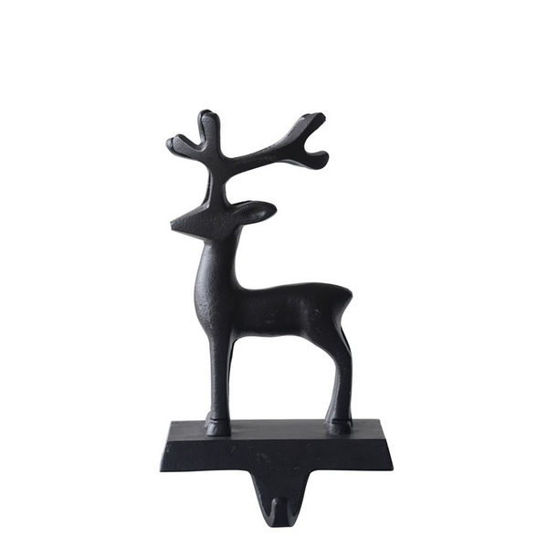 Cast Iron Reindeer Stocking Holder