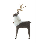 Brown & Cream Wool Felt Reindeer