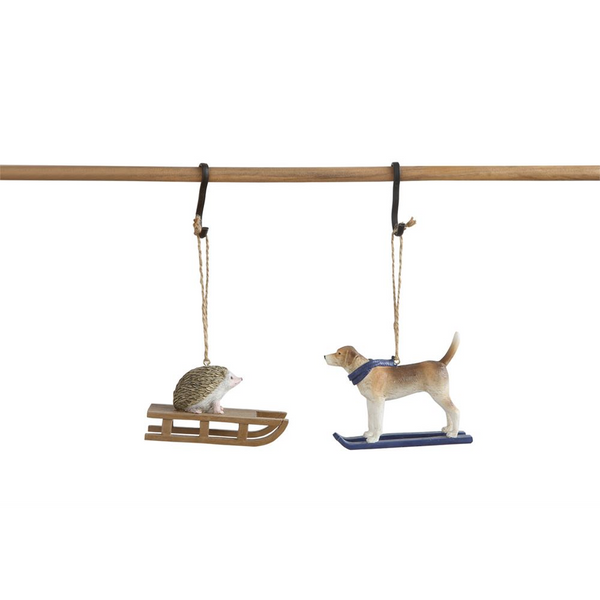 Animal on Sled Ornament