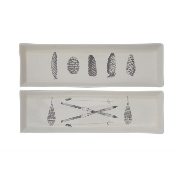Winter Rectangular Platter