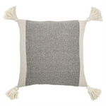 Cotton Knit Pillow w/ Tassels