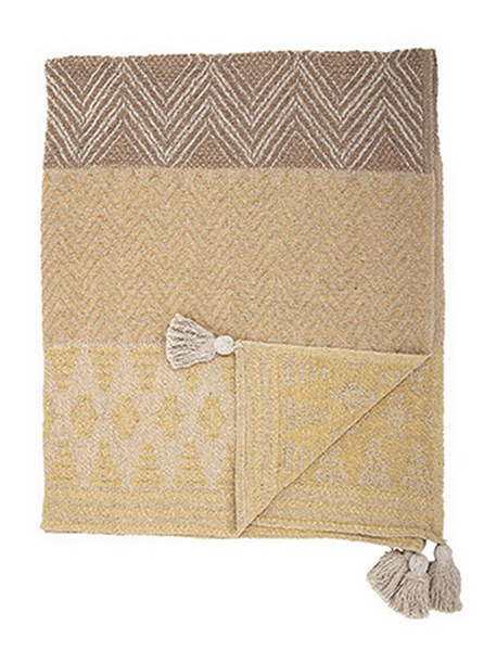 Woven Throw w/ Tassels