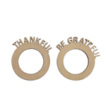 Thankful/Grateful Wood Laser Cut Napkin Ring Sets