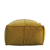 Goldenrod Cotton Velvet Pouf