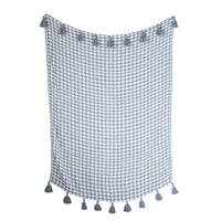 Houndstooth Throw w/ Tassels