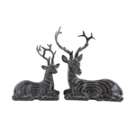 Black Resin Lying Deer