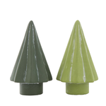Assorted Green Cement Trees - Large